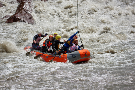 Rafting competition. Interrally Belaya 2019. Iner Rally 2019 Russia Adygea 05 02 2019