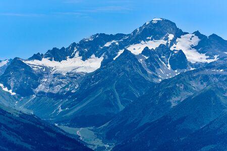 Mount Sofia, Sofia Glacier and Sofia Waterfalls. Arkhyz North Caucasus Russia Stock fotó