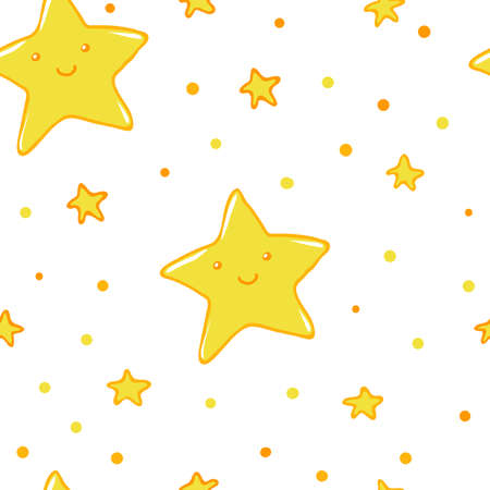 Good night and sweet dreams seamless pattern. Lovely stars for your design.