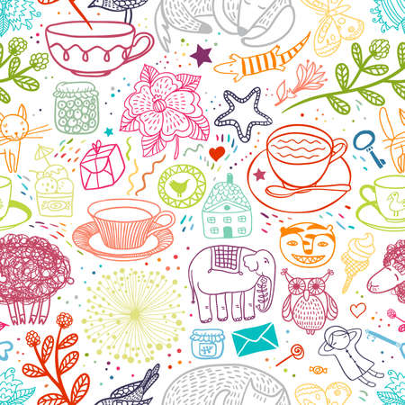 Things Doodle Pattern