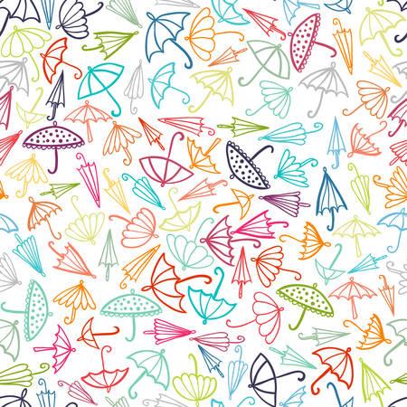 autumn colour: Doodle Parasol Pattern