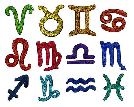 Watercolor Zodiac Signs