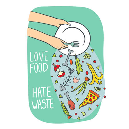 Stop Wasting Food Illustration Illustration