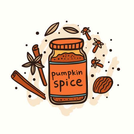 Pumpkin Spice Doodle Illustration Illustration