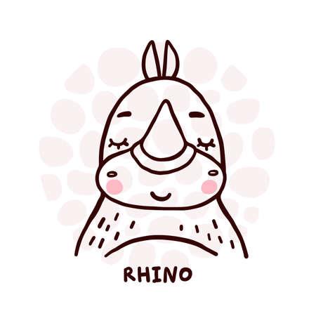 Cute Rhino Portrait