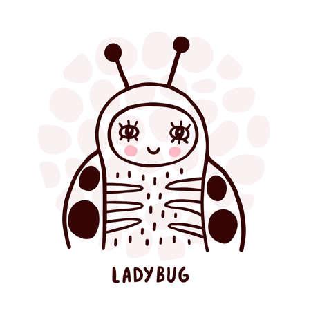 Cute Ladybug Portrait