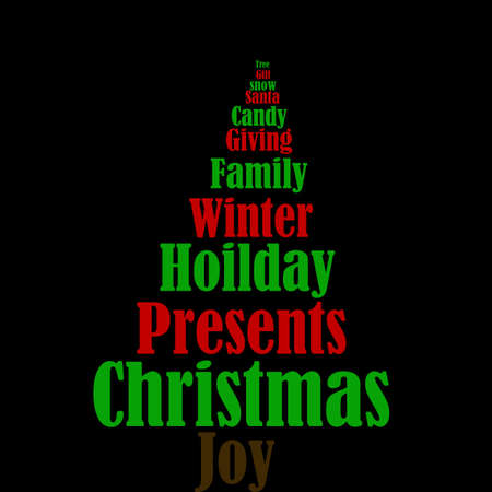 royalty free: Christmas Tree With Hoilday Words