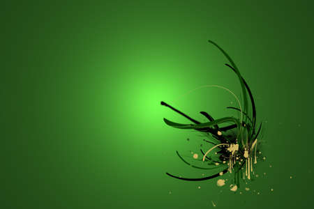 Abstract Paint Explosion Green