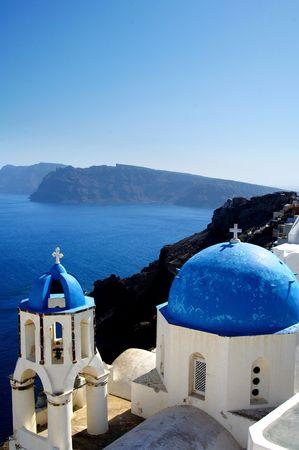 Oya city in Santorini, on the Greek Islands