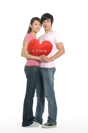 Young happy couple in love Stock Photo