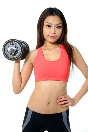 doing fitness exercises at home Stock Photo - 2937770