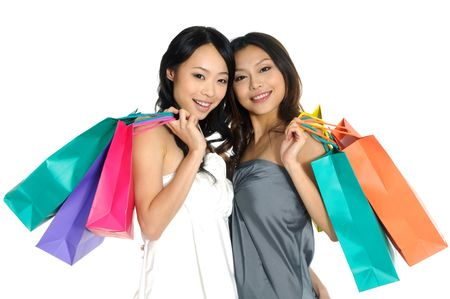 asia Shopping pretty woman with bags Stock Photo - 2937752