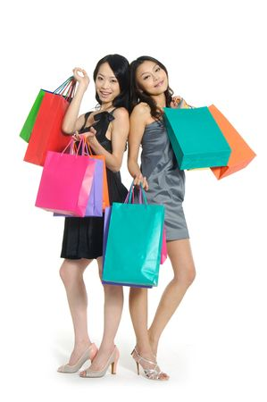 asia Shopping pretty woman with bags Stock Photo - 2937741