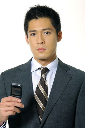 a asia Young businessman posing Stock Photo
