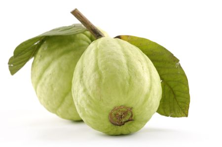 produce sections: guava isolated
