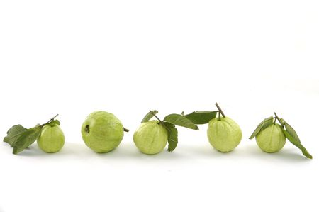 row of  frsh guava fruit photo