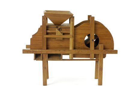 Vintage rice wood machine photo