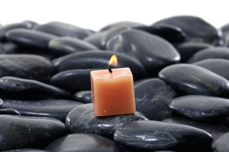 alight: alight candles and pebbles for spa session