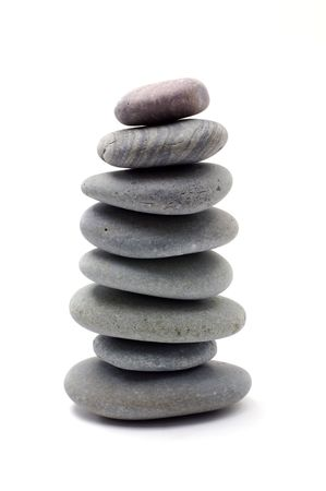 Stack of zen stones photo
