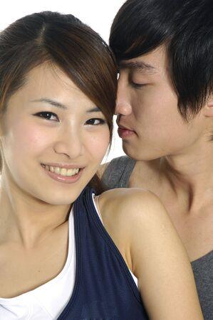 Young happy couple in love 版權商用圖片