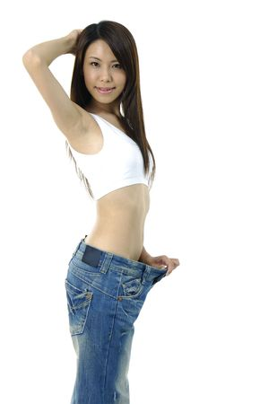Asian woman view of female became skinny Stock Photo - 5928701