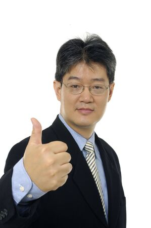 business man going thumb up, photo