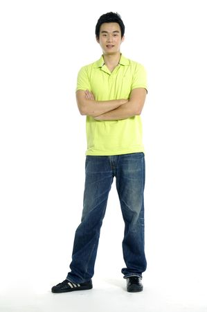Portrait of a casual young satisfied man. Stock Photo - 5939197