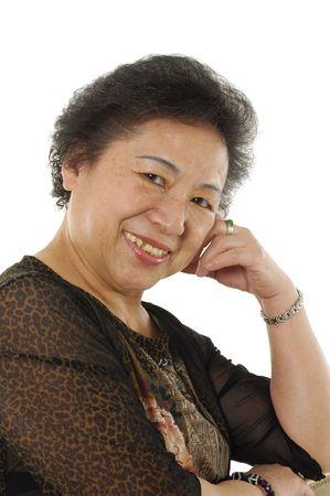 cordial: Beautiful senior lady laughing