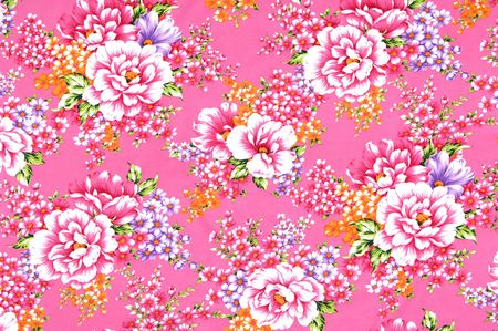 chinese flower: Traditional Chinese fabric sample Stock Photo