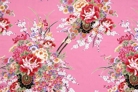 flores chinas: Muestra de tejido de chino tradicional