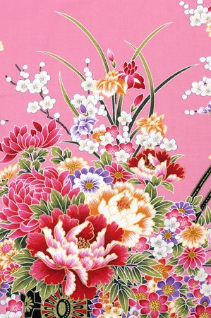 Traditional Chinese fabric sample Stock Photo