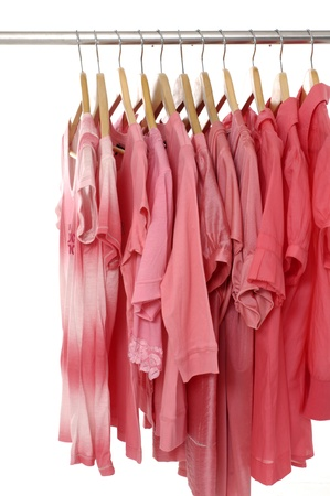 floor cloth: Fashion clothing hanging on hangers