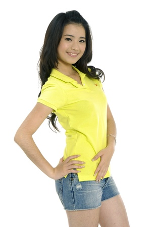 Smiling young asian woman Stock Photo - 10979455