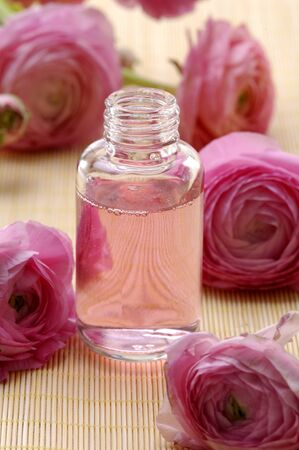 Perfume bottles with flower rose Stock Photo - 11081190