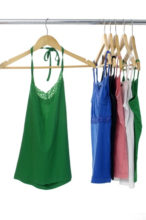 peignoir: Colorful peignoir hanging