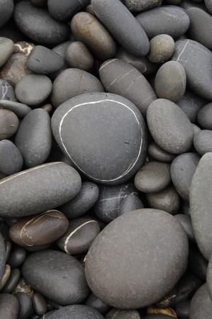 Beach pebble background Stock Photo