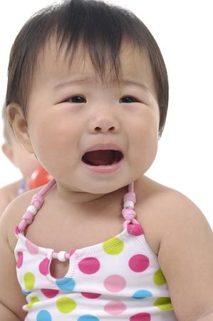 Crying baby girl 版權商用圖片
