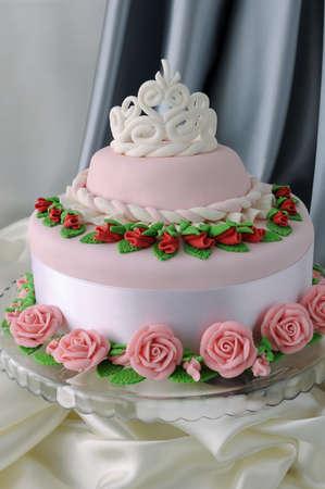 Cake for the Princess of marzipan Standard-Bild