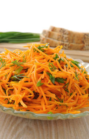 collation: Carrot salad with green onion and dill