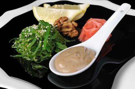 peanut sauce: Chuka seaweed salad with sesame and peanut sauce