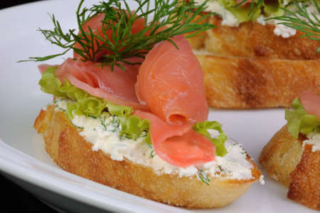 elevenses: Sandwich with ricotta, pickled ginger and a slice of salted salmon