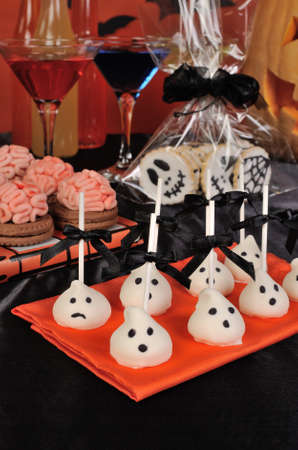nosh: variety of sweets on the table in honor of Halloween