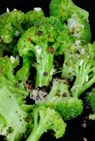 florets: salad broccoli florets for garlic and spices Stock Photo