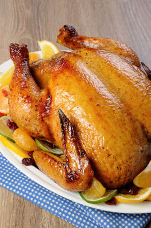 elevenses: Baked chicken in orange, lime, tangerine and cranberry