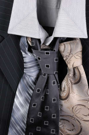 garb: How to choose a tie is best suited to a shirt and  suit Stock Photo