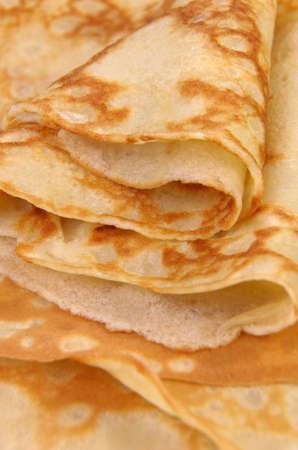 morsel: stack of folded crispy fried thin pancake closeup