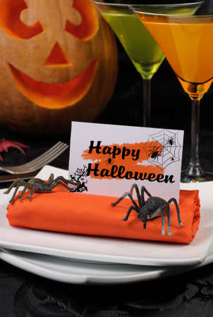 roll out: How to lay out and decorate decorative napkin on Halloween
