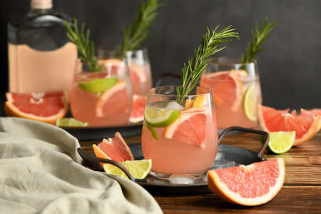 Fresh lime and rosemary combined with fresh grapefruit juice and tequila are the perfect way to get the most out of these amazing products. Reklamní fotografie