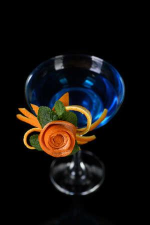 Art in orange- fruits carving. How to make to citrus garnish design for a drink.