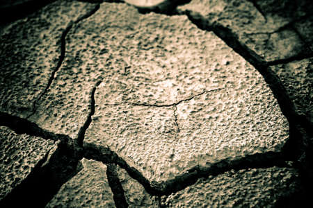 The soil in the fissures appeared on the long-term heat Stock Photo - 7266360